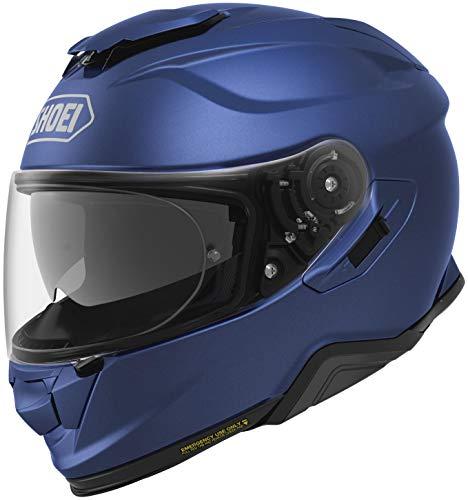(Shoei GT-Air 2 Solid Street Motorcycle Helmet - Matte Blue Mettalic/Large)