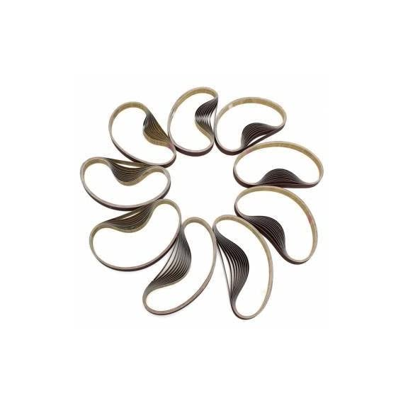 10pcs 770x24mm Zirconia Abrasive Sanding Belts for Grinding Wood Work (100#)