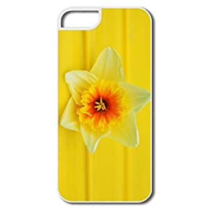 IPhone 5/5S Cases, Daffodil Macro White Case For IPhone 5/5S