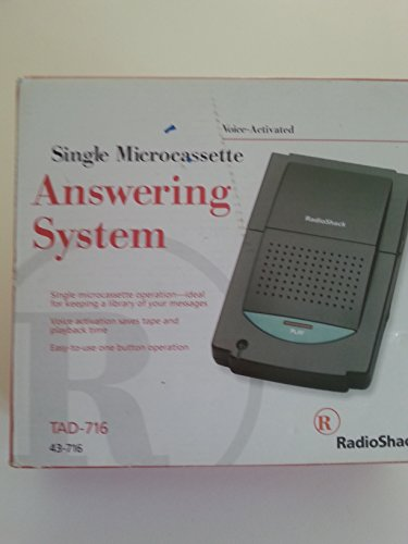Radio Shack Single Microcassette Answering System 43-716 ()