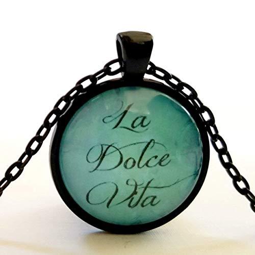 (Italian Quote La Dolce Vita Sweet Life Necklace )
