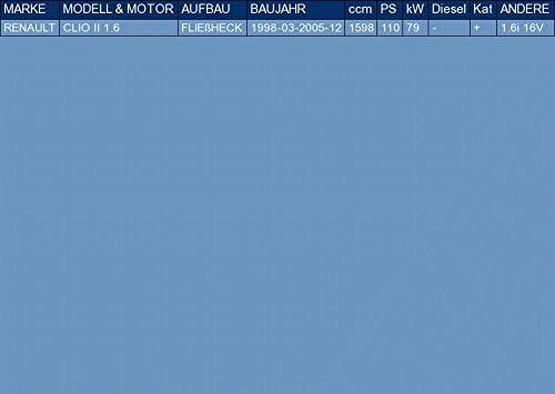 f/ür CLIO II 1.6 FLIE/ßHECK 110hp 1998-2005 Anbauteile ETS-EXHAUST 5762 Auspuff Auspuffanlage