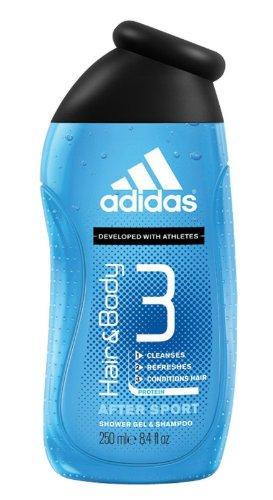 Adidas 3in1 (Body Hair Face) Shower Gel Shampoo After Sport 250 ml / 8.4 oz