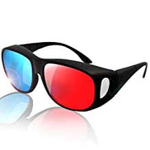 Ezapor 3D Glasses Red Blue Cyan Anaglyph Comfortable For Movie Game