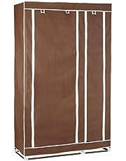 خزانة ملابس محمولة بلون بني-28109