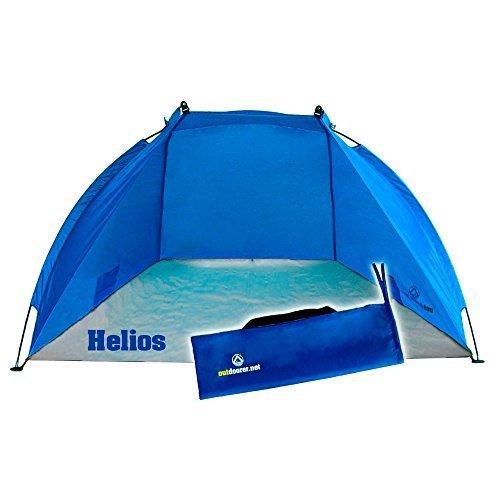 Outdoorer Strandmuschel Helios, blau, UV 60, extra leicht, Minipackmaß