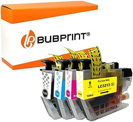 Bubprint - 4 Cartuchos de Tinta Compatible con Brother LC-3213 XL LC 3213 LC3213 Val LC-3213VALDR para Brother DCP-J572DW DCP-J772DW DCP-J774DW ...