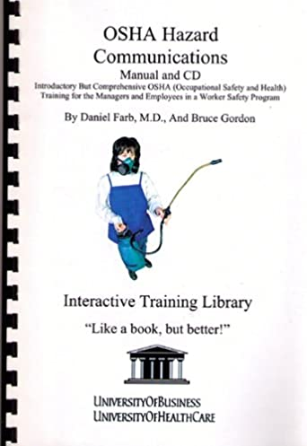 osha hazard communications manual and cd introductory but rh amazon com OSHA Safety Manual PDF Iipp Safety Manual