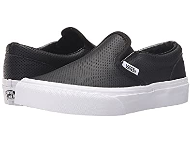 7a693e1521 Vans Classic Slip-On (Perf Leather) Black Kids 11.5 (11.5 M US