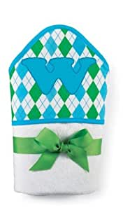 Mud Pie Initial Baby Boy Blue Initial Hooded Terry Towel