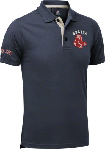 Boston Red Sox Majestic Champions Vintage Navy Polo shirt camisa ...