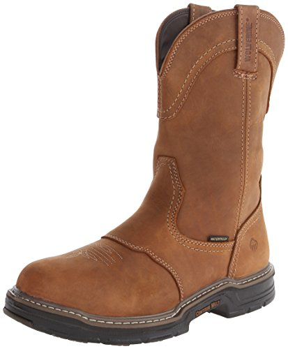 Wolverine Mens 10  Anthem Multishox Waterproof Eh Well Boots Brown W02288 Size 9 5M