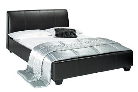09a0350e8482 Image Unavailable. Image not available for. Colour: Paris Black Faux  Leather Bed ...
