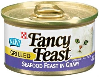 (Fancy Feast Grilled Seafood Feast In Gravy Canned Cat Food 24 - 3oz Cans)