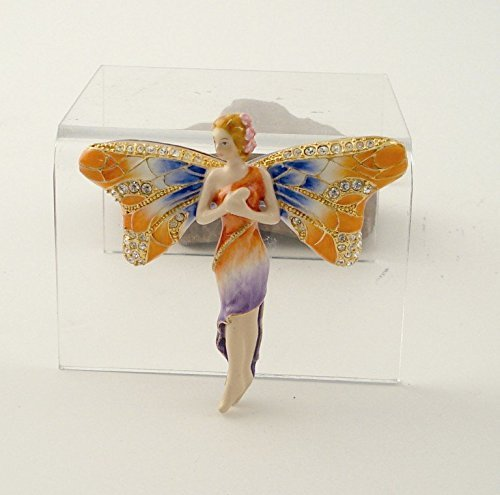 (2.5 Inch Dragonfly Fairy Jeweled Jewelry/Trinket Box Figurine)