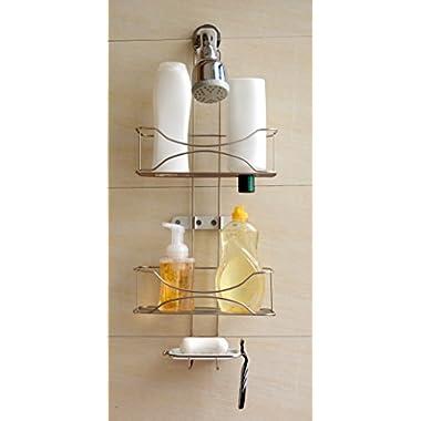 BathSense 3-Tier Winthrop Shower Caddy, Brushed Satin Nickel