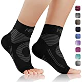 FEATOL Plantar Fasciitis Socks with Arch Support, Compression Foot Sleeves |Relieves Achilles Tendonitis, Joint Pain, Swelling, Heel Spurs, Better Than a Night Splint (Black, Large)