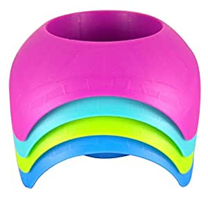 Beach Vacation Accessory Turtleback Sand Coaster Drink Cup Holder, Assorted Colors, Pack of 4
