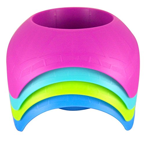 Beach Vacation Accessory Turtleback Sand Coaster Drink Cup Holder, Assorted Colors, Pack of -
