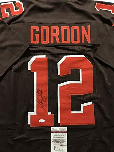 Autographed/Signed Josh Gordon Cleveland Football Brown Jersey JSA COA