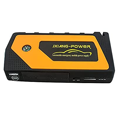 Pevor Portable Jump Starter Ultra- Large Capacity Car 69800mAh Emergency Power Bank Battery Supply Charger with LED Light Safety Hammer Cutter Compass