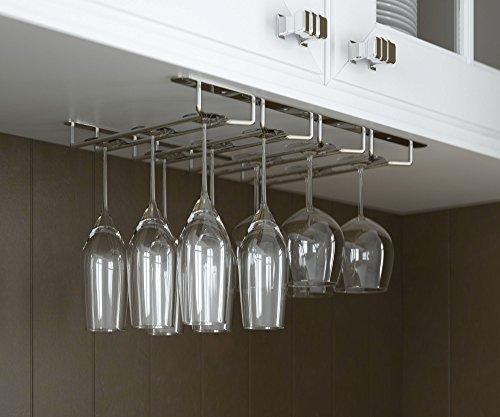 wallniture under cabinet stemware glass rack wine glasses import it all. Black Bedroom Furniture Sets. Home Design Ideas