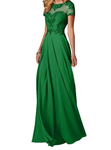 Charmant Grün Abendkleider Lang Pailletten Perlen Festlichkleider Brautmutterkleider Chiffon Damen und Ballkleider Zahlreichen mit rqrxOp7