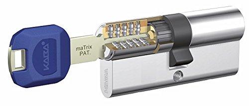 Kaba K59.DZ.35.35.MS.BSZ.LAM High Security Cylinder + Reinforcement LAM, Brass, 5 Keys LK Double Pack