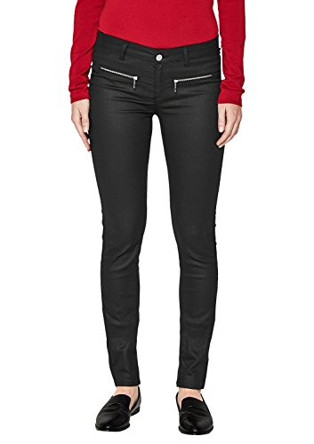 s.Oliver BLACK LABEL Damen Sienna Slim  Beschichtete Jeans Black Denim  bGZc0J 22adb6fb55