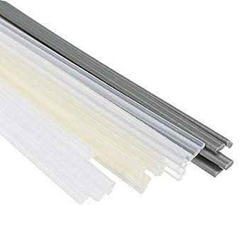 KUNSE 24Pcs PP/Abs/PE/PVC Material Plástico Varilla De Soldadura Coche/Tubo/ Soldadura De Hoja De Plástico: Amazon.es: Hogar