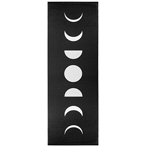 Wildmagic Moon Phases Yoga Mat - 5mm Sticky Mat w/Eco Friendly Printed Design