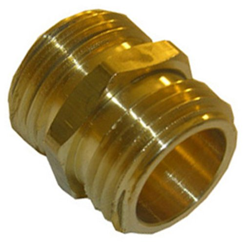 LASCO 15-1703 3/4-Inch Male Garden Hose Thread by 3/4-Inch Male Garden Hose Thread Brass Adapter