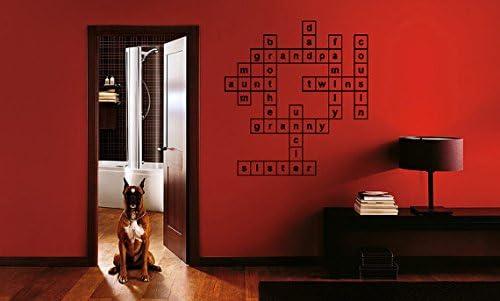 Famille Mots Croisés Citation Sticker Mural Citation