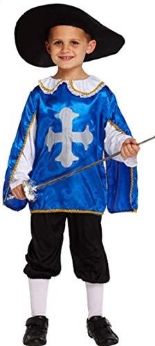 Boys Blue Musketeer Muskateer Book Day Week Fancy Dress Costume Outfit 4-12 Years (10-12 Years) -