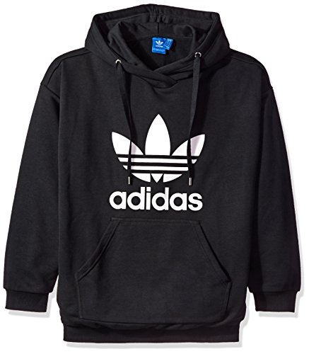 adidas Originals Women's Outerwear | Trefoil Hoodie, Black/French Terry, X-Small by adidas Originals