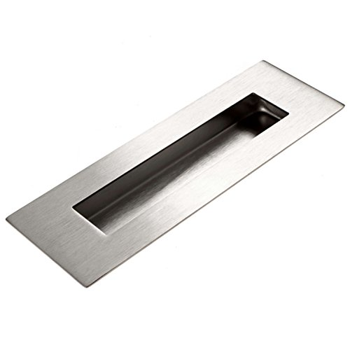 Flush Wood Doors - Flush Door Pull For Pocket Doors - Recessed Finger Pulls Stainless Steel With Satin Finish 6