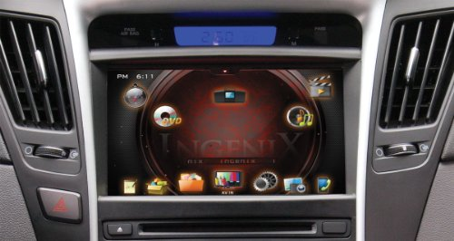 POWER ACOUSTIK P-84SNTA11 OEM Upgrade Multimedia Navigation System with 8-Inch Monitor and Bluetooth for Hyundai Sonata 2011 by Power Acoustik