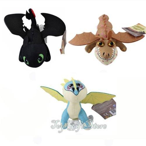[3pcs How To Train Your Dragon 2 ~ TOOTHLESS Stormfly Gronkle Meatlug Plush dolls] (Despicable Me Costume Walmart)
