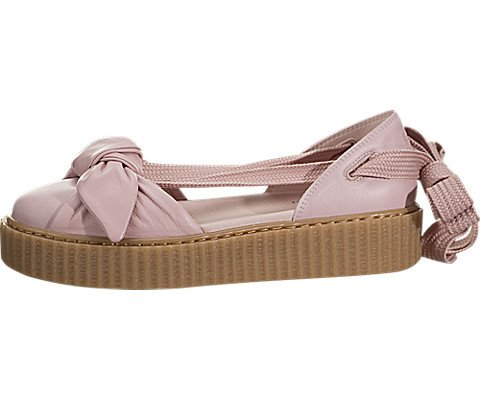 PUMA Women's Fenty x Bow Creeper Sandals, Silver Pink/Silver Pink, 7 B(M) US (Lace Side Bow Platform)