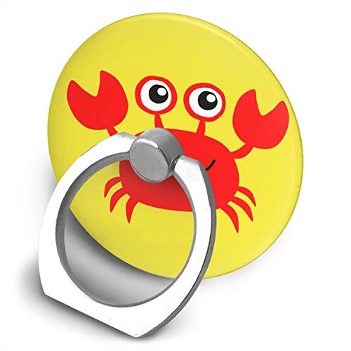 Yuotry 360 Degree Rotating Ring Stand Grip Mounts Red Crab Universal Phone Ring Bracket Holder Smartphone Ring Stent ()