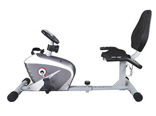 New Silver Foldable Excercise Bike Cardio Cycling Workout...