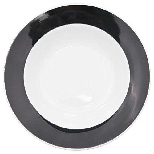 (TableTop King R-120-BLK Rainbow 26 oz. Black Rolled Edge Pasta Bowl - 12/Case)