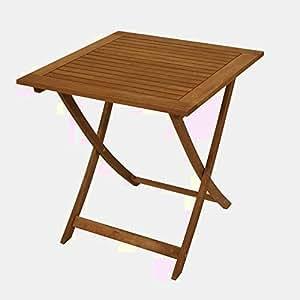 Mesa plegable para jardín, pequeña, de madera, plegable, alta, cuadrada, marrón, comedor, café, patio, exterior, mueble exterior, café, 2 plazas, desayuno, bebidas y libro electrónico