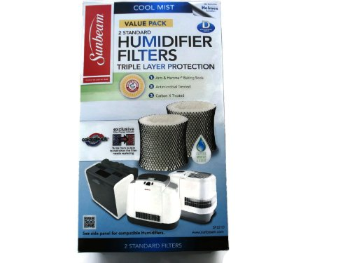 Sunbeam Cool Mist Humidifier Filter Type D (SF221)(Value Pack-2 Filters In (Sunbeam Humidifier Parts)