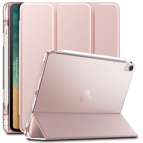 Infiland iPad Pro 11 Case with Apple Pencil Holder,Smart Case Cover Compatible with iPad Pro 11 Inch 2018 Release (Support 2nd Gen Apple Pencil Wireless Charging, Auto Wake/Sleep), Rose-Gold