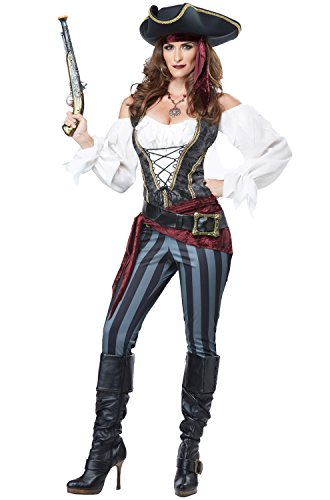 [California Costumes Women's Brazen Buccaneer, Multi, Medium] (Couples Scary Costumes)