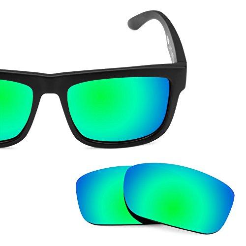 Verres de rechange pour Spy Optic Discord — Plusieurs options Vert Emeraude MirrorShield® - Polarisés