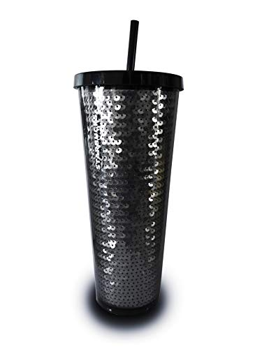 Starbucks 2018 Holiday Collection Black Sequins Cold Cup Tumbler