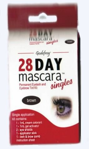 28 Single (Godefroy 28 Day Mascara - Brown Single Application (Pack of 3))