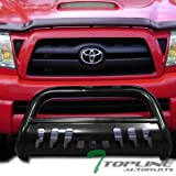 2007 toyota tacoma grill guard - Topline Autopart Black Bull Bar Brush Push Front Bumper Grill Grille Guard With Skid Plate For 05-15 Toyota Tacoma